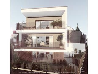 Edifício de habitação colectiva Vaillant Casas modernas por OGGOstudioarchitects, unipessoal lda Moderno