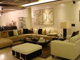 Elegant sofa set for Living room:  Living room by shritee ashish & associates