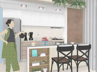 Armários de cozinha  por Juliana Bottoni Arquitetura
