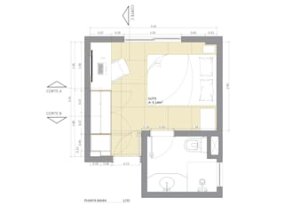 Quartos  por Juliana Bottoni Arquitetura