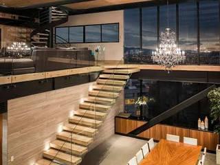 Escaleras de Proyecto. : Recámaras de estilo  por Global Woods