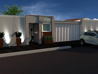 FACHADA CONDOMÍNIO: Casas familiares  por Traço B Arquitetura