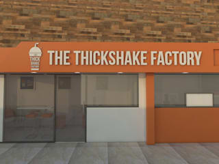 THICK SHAKE NELLORE Modern bars & clubs by KAS Architecture Modern