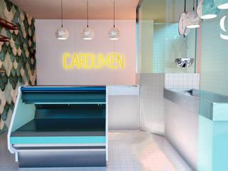 Cardumen Fishería Espacios comerciales de estilo mediterráneo de GR arte & diseño Mediterráneo