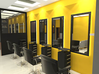 drizzle spa and SALON:  Commercial Spaces by KAS Architecture