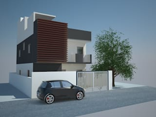 VIPIN RESIDENCE:  Houses by KAS Architecture
