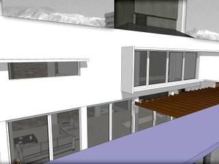 EDIFICIO DE OFICINAS Y LOFT EN SAN SALVADOR: Estudios y oficinas de estilo  por MVQ ARQUITECTOS,Moderno