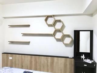 【住家】重點設計強大收納:  臥室 by 圓方空間設計
