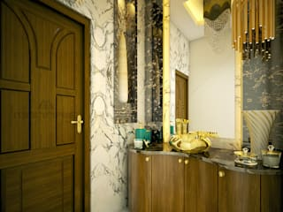 ​Luxury Magic.. Classic style bathroom by Monnaie Architects & Interiors Classic