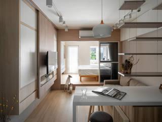 有偶設計 YOO Design Ruang Keluarga Modern
