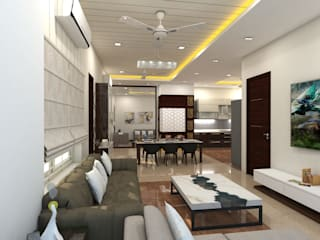 project vijayawada Asian style living room by shree lalitha consultants Asian