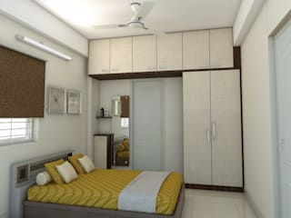 shree lalitha consultants Asian style bedroom Plywood White