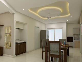 project kondapur Asian style dining room by shree lalitha consultants Asian