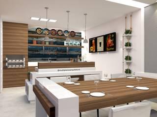 Laene Carvalho Arquitetura e Interiores 現代廚房設計點子、靈感&圖片