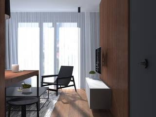KAWALERKA DLA MĘŻCZYZNY: styl , w kategorii Salon zaprojektowany przez PRACOWNIA PROJEKTOWA TAMAS