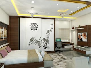 shree lalitha consultants Asian style bedroom Plywood Beige
