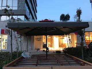 Akaydın şemsiye – 5x5 LUX MODEL ŞEMSİYE:  tarz Ön avlu,