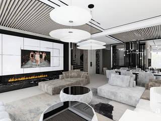 ARTDESIGN architektura wnętrz Salones de estilo moderno