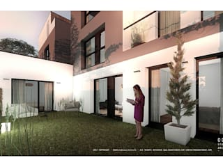 Projecto de habitação colectiva - Fontaine por OGGOstudioarchitects, unipessoal lda Moderno