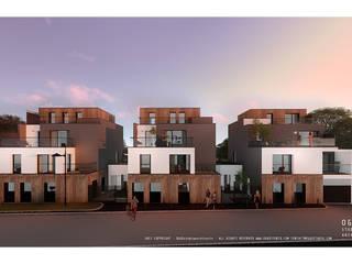 Projecto de habitação colectiva - Fontaine Casas modernas por OGGOstudioarchitects, unipessoal lda Moderno