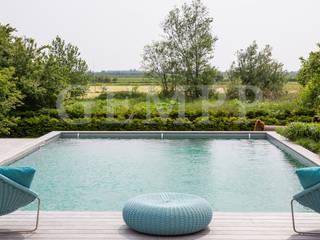 Wellnesgarten mit Swimmingpool Moderner Garten von GEMPP GARTENDESIGN - Gartenplanung Gartengestaltung Landschaftsbau Modern