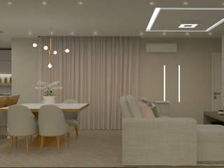 Projeto de Reforma Residencial Salas de estar modernas por Regiane Almeida Arquitetura e Interiores Moderno