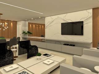 PROJETO DE INTERIORES: Salas de estar  por Ana Paula Onzi Arquitetura,Moderno
