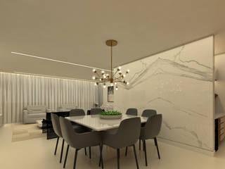 PROJETO DE INTERIORES: Salas de jantar  por Ana Paula Onzi Arquitetura,Moderno