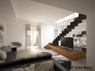 غرفة المعيشة تنفيذ Nocera Kathia rendering progettazione e design