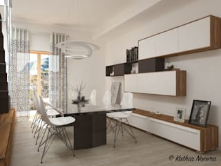 غرفة السفرة تنفيذ Nocera Kathia rendering progettazione e design