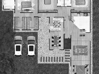 Proyecto Casa El Habra:  de estilo  por Estudio Arquitectura y construccion PR/ Arquitectura, Construccion y Diseño de interiores / Santiago, Rancagua y Viña del mar,