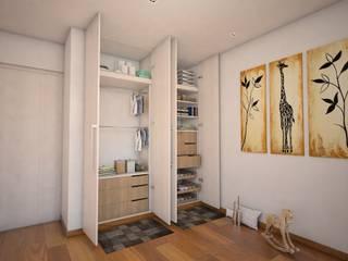 モダンスタイルの寝室 の GA Experimental モダン