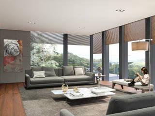Cumbres de Acultzingo: Salas de estilo  por DOS Jaime Guzman Arquitectos