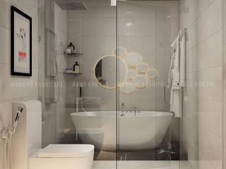 Mẫu phòng tắm hiện đại sang trọng:  Phòng tắm by Công ty TNHH Nội Thất Mạnh Hệ