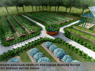 DESAIN DEMPLOT PERTANIAN, KWT BONGAS WETAN:   by Bengkel Tanaman