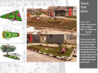Taman Lingkungan Komplek:  Kantor & toko by Bengkel Tanaman