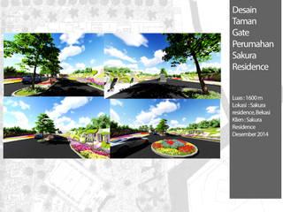 Desain Gate Sakura Residence:  Ruang Komersial by Bengkel Tanaman