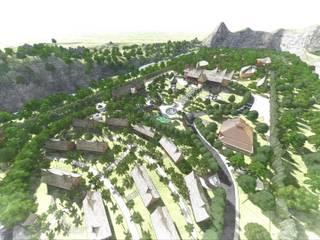 Kawasan Wisata Adat Minangkabau:  Ruang Komersial by Bengkel Tanaman