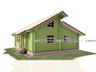 Одноэтажный дом из бруса: Деревянные дома в . Автор – Projectstroy