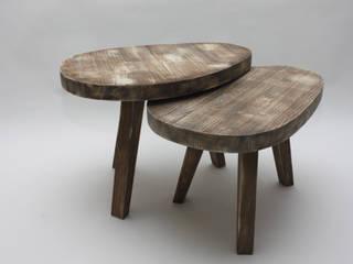 Tables Gigognes et Lampe Loft:  de style  par wood²