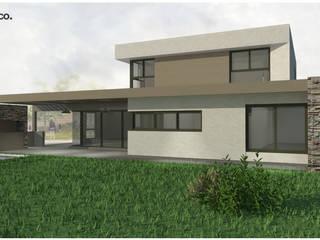| FACHADA NORTE: Casas unifamiliares de estilo  por modulo cinco arquitectura
