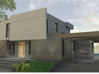 | FRENTE: Casas unifamiliares de estilo  por modulo cinco arquitectura