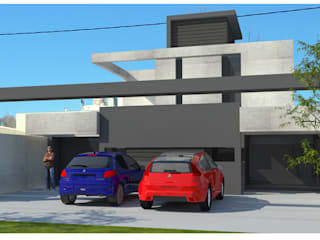 [ FACHADA FRONTAL ]: Casas multifamiliares de estilo  por modulo cinco arquitectura