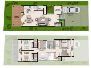 CAMark projects Terrace house Bricks White