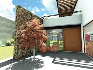 Acceso Peatonal: Casas de estilo ecléctico por Taller de Materia Arquitectónica