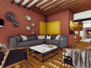 Estancia: Salas de estilo  por Taller de Materia Arquitectónica