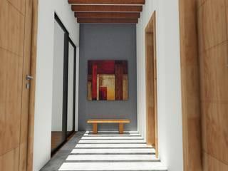 Vestibulo pergolado: Pasillos y recibidores de estilo  por Taller de Materia Arquitectónica