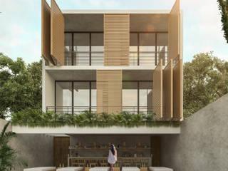 Departamentos Cocoyol - Comalcalco, Tabasco.: Casas de estilo  por Obed Clemente Arquitecto