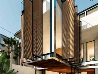 Villas Holistica - Tulum Quintana Roo.: Albercas de jardín de estilo  por Obed Clemente Arquitecto