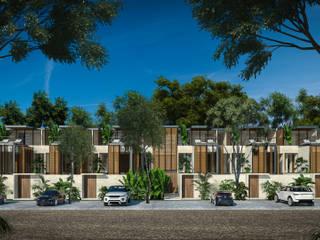 Villas Holistica - Tulum Quintana Roo.: Villas de estilo  por Obed Clemente Arquitecto